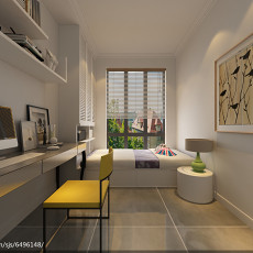 现代一居室家庭装修样板间效果图大全