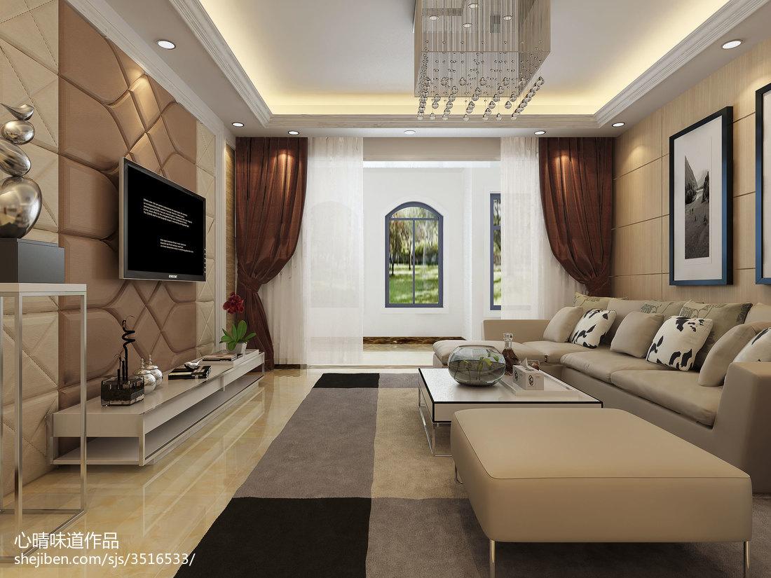 精选93平方三居客厅现代装修图片