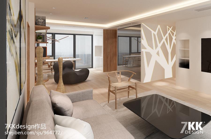 北欧极简风格公寓房设计_2276676