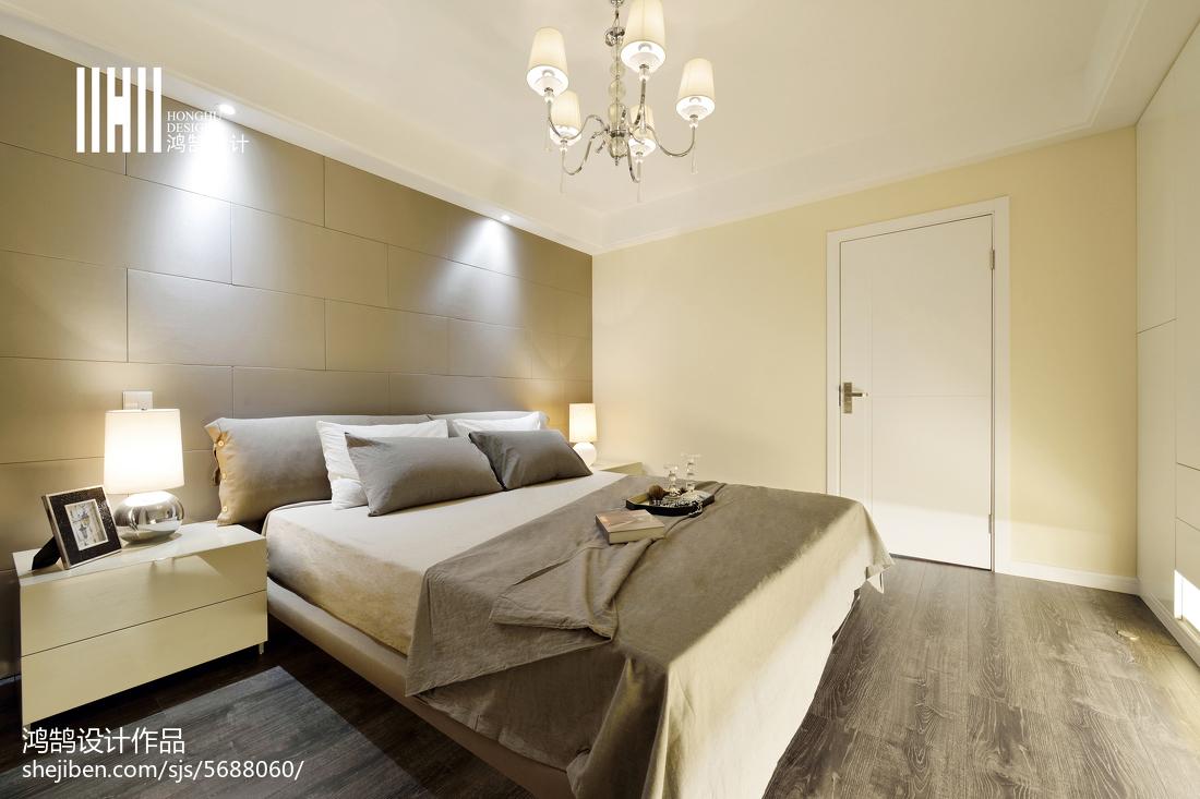 2018面积94平现代三居卧室装修图片