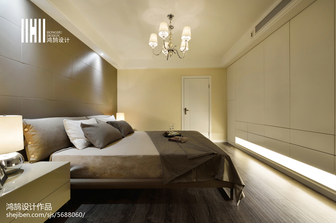 热门面积91平现代三居卧室欣赏图片