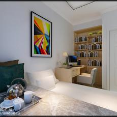 精美面积91平简约三居书房效果图片欣赏