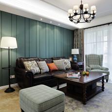 精美95平米三居客厅美式装修欣赏图