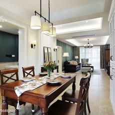 热门面积92平美式三居餐厅装修欣赏图