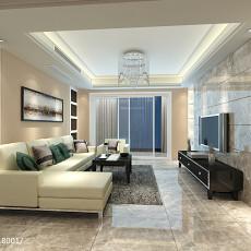面积99平简约三居客厅装饰图片大全