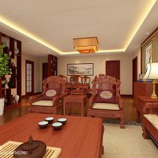 热门93平方三居客厅中式装修设计效果图片