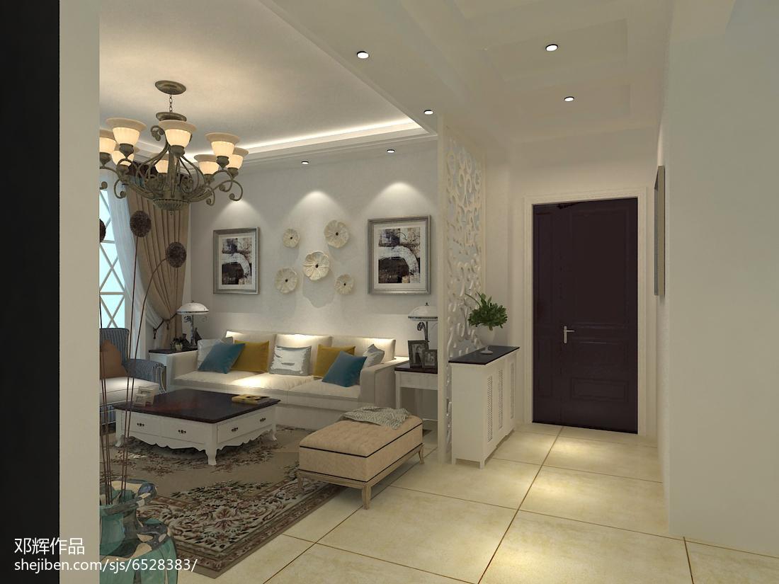 时尚混搭风格客厅装修效果图