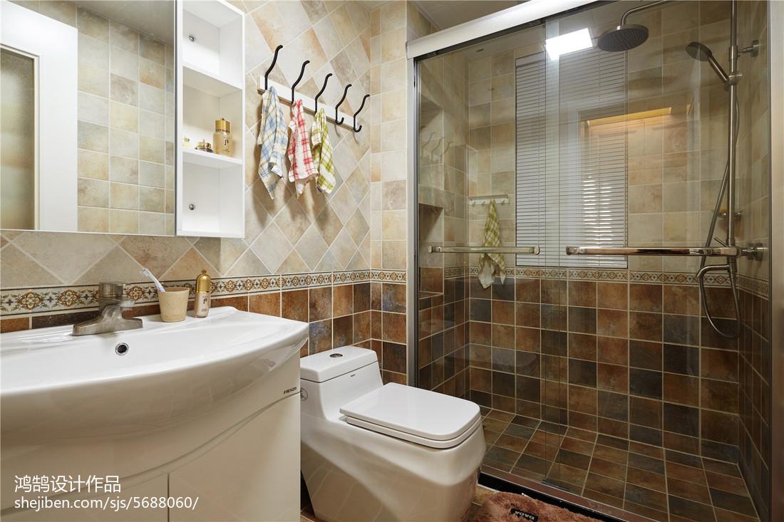 精美三居卫生间美式装修设计效果图片大全