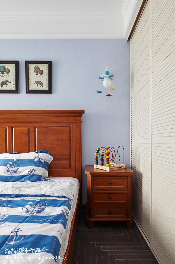 2018面积97平美式三居儿童房装修欣赏图片大全