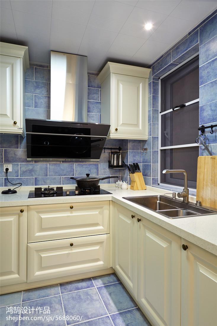 精选102平方三居厨房美式装修欣赏图片