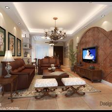 热门84平米二居客厅美式欣赏图片