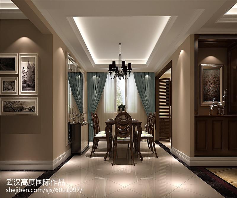 现代创意豪华四居室装修效果图