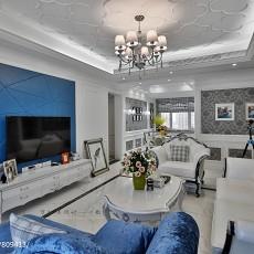 2018精选大小103平欧式三居客厅装修实景图片欣赏