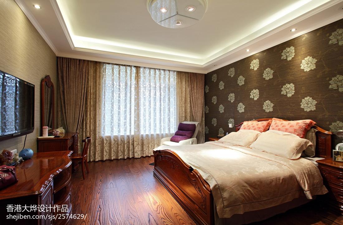 134平米四居卧室美式设计效果图