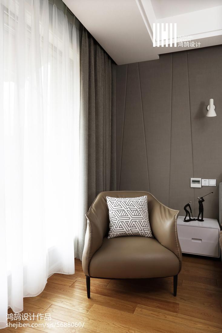 精美124平米现代复式卧室实景图片
