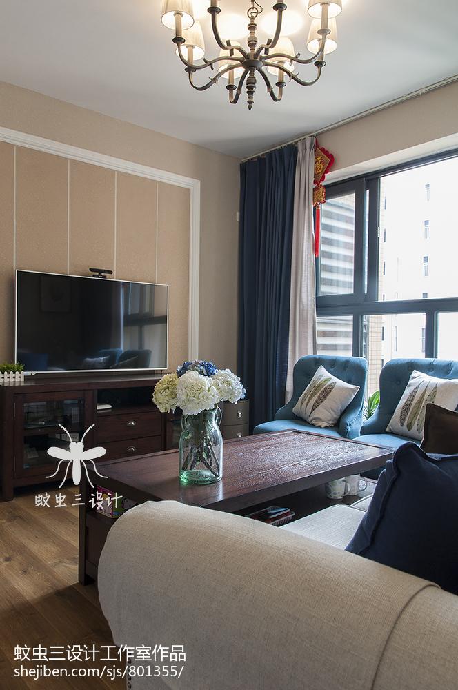 大气119平美式三居客厅装修图片