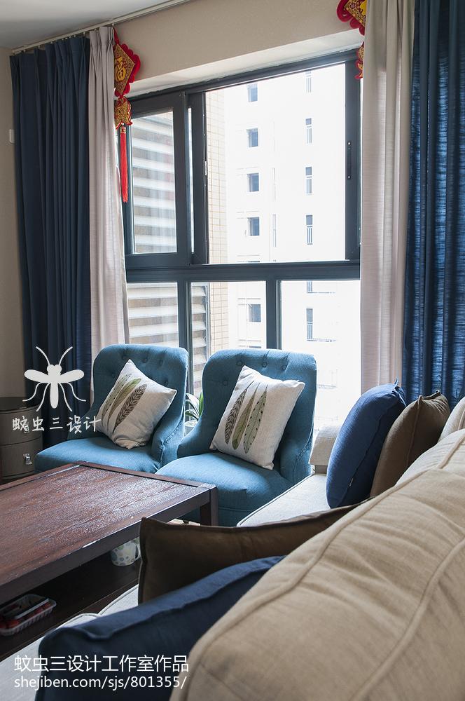 明亮110平美式三居客厅设计美图