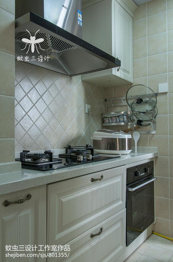 201898平米三居厨房美式装修设计效果图