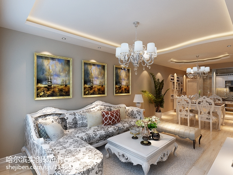 精选面积78平美式二居装饰图片欣赏