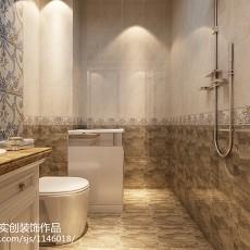 精美面积77平欧式二居卫生间实景图片大全