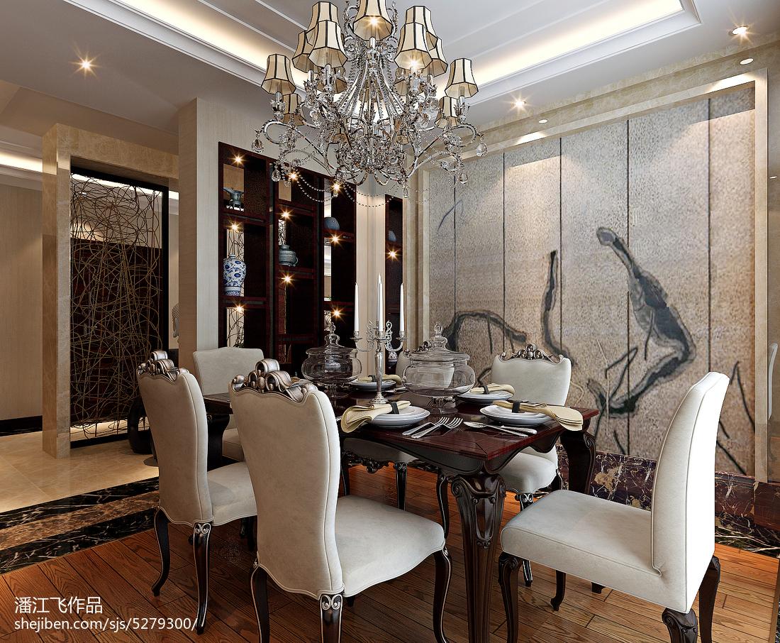 热门面积136平中式四居装修设计效果图片大全