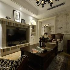 75平方二居客厅美式装修设计效果图