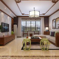 124平米四居客厅中式实景图片