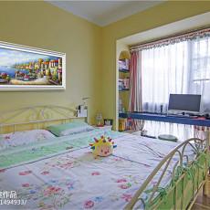 精美88平米二居卧室地中海装修欣赏图片