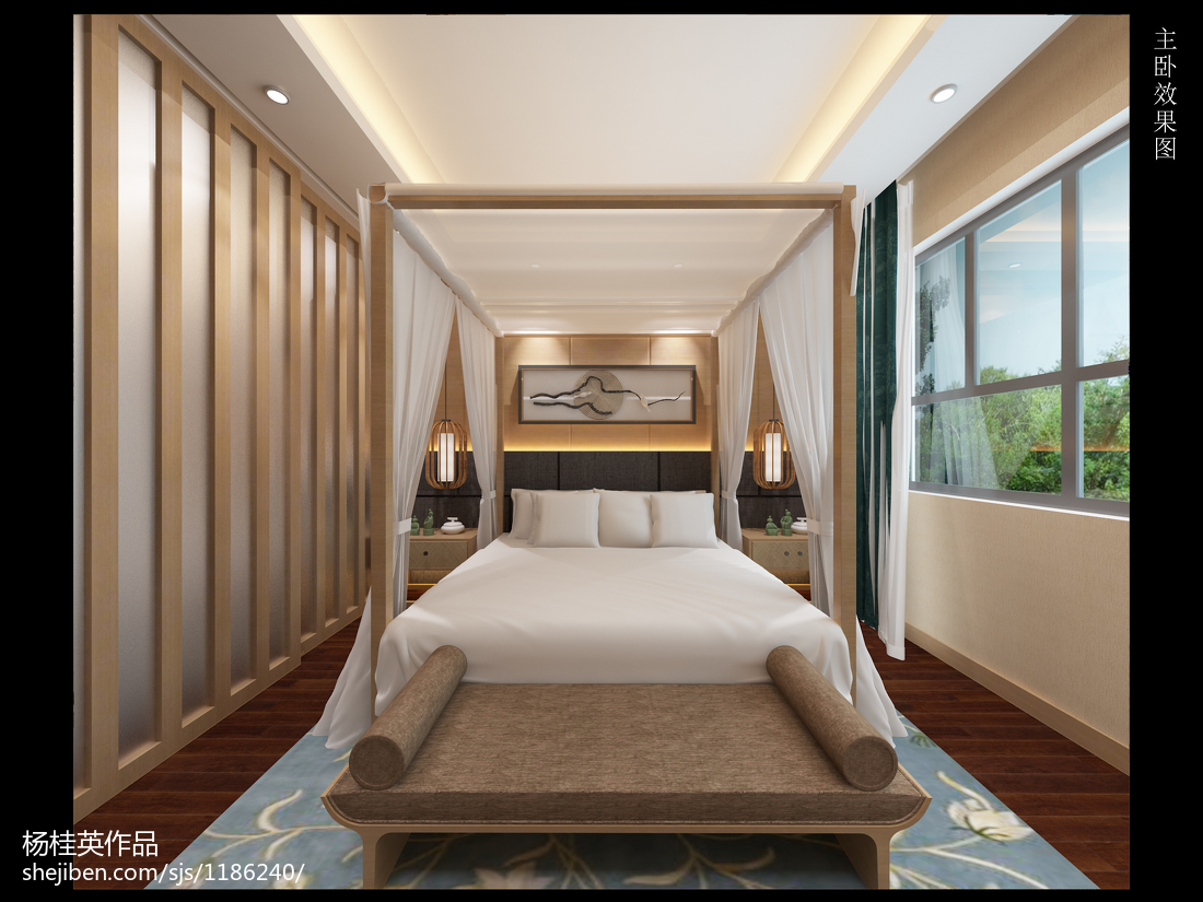 东南亚装修设计卧室大全