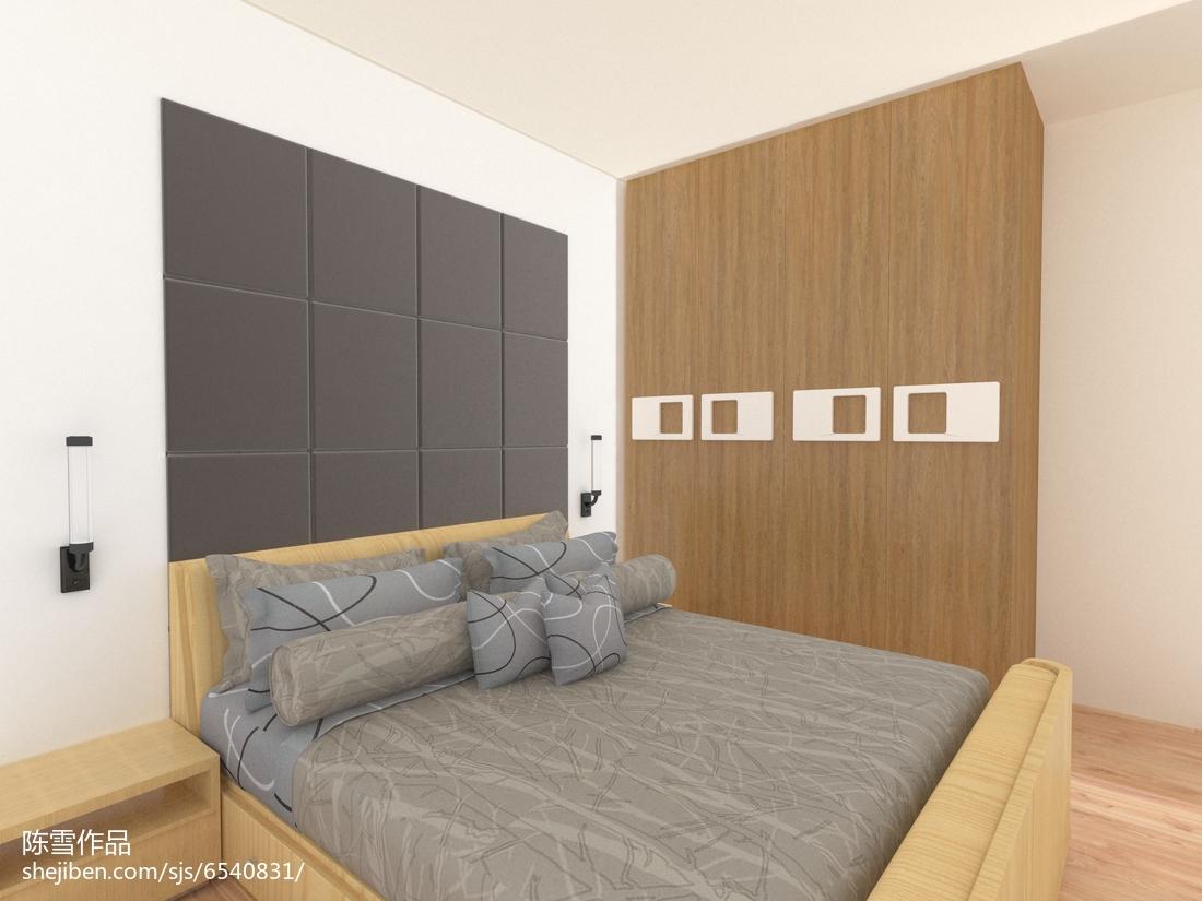 6万打造90平米简约风格卧室装修效果图大全2014图片