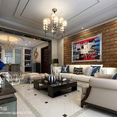 现代中式装修设计二居室效果图大全