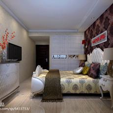 精美面积76平现代二居卧室装修设计效果图