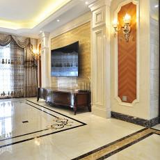 热门115平方四居客厅欧式装修设计效果图片欣赏