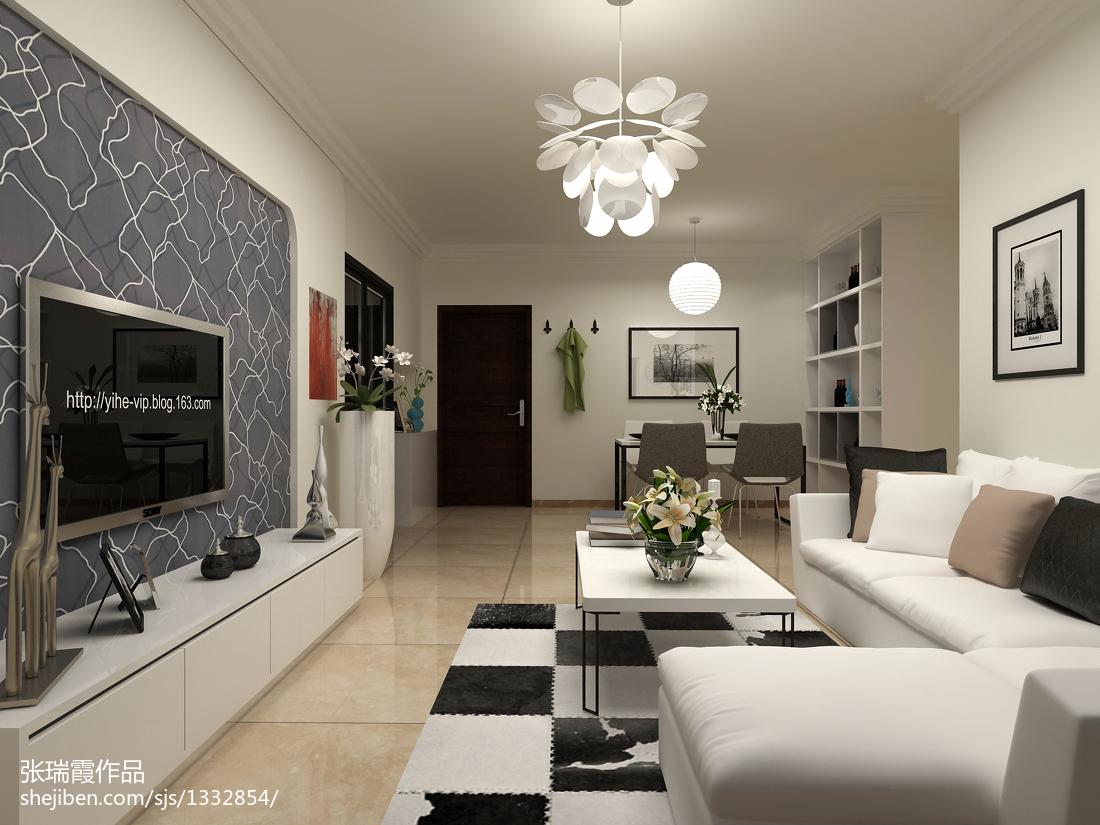 两室两厅90平装修图_日式现代风格90平米两室两厅设计效果图-土巴兔装修效果图