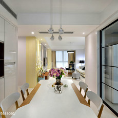 精美大小95平现代三居餐厅效果图片大全