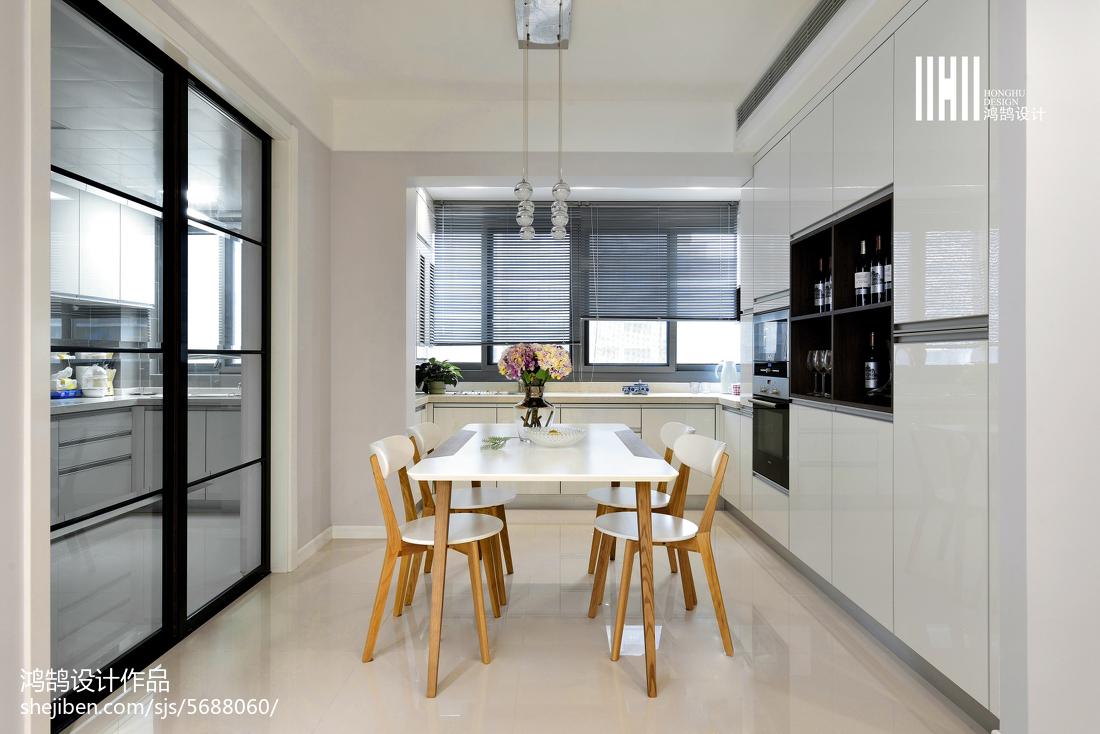 精美90平米三居餐厅现代装修设计效果图片