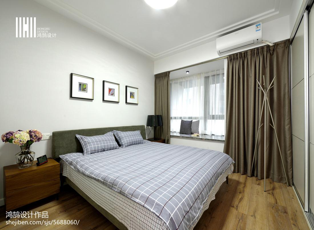 热门92平米三居卧室现代实景图片欣赏