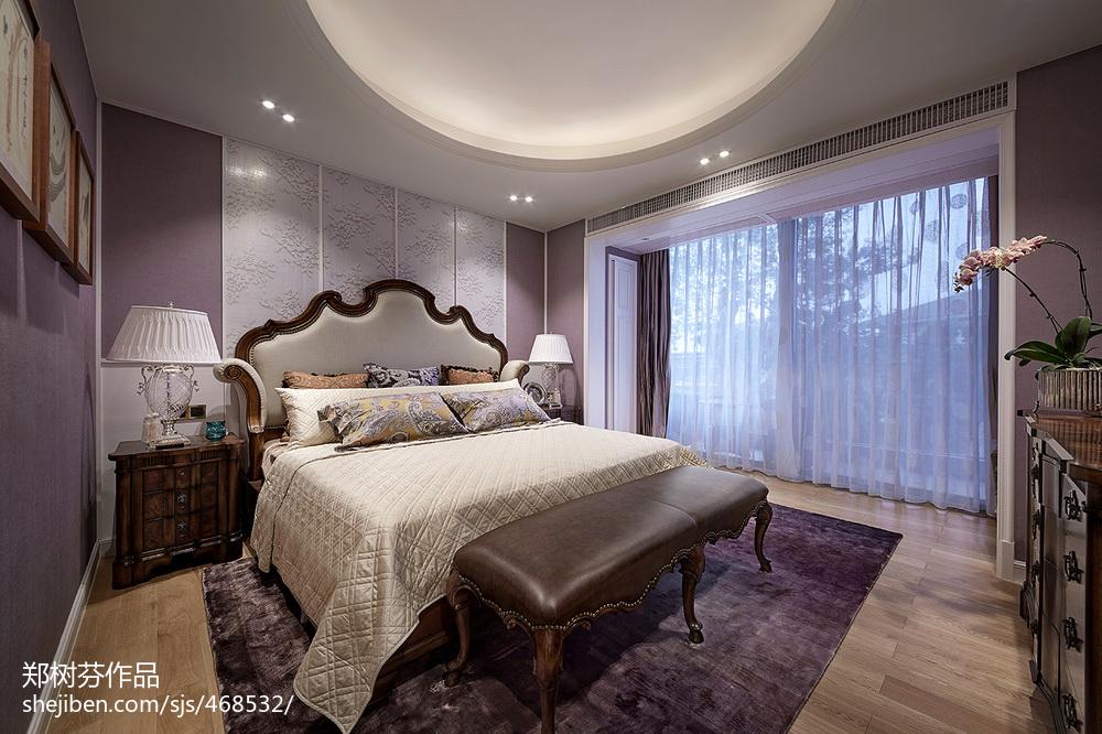 2018141平米欧式别墅卧室装修欣赏图片
