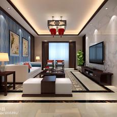 2018大小90平中式三居客厅装修图片大全