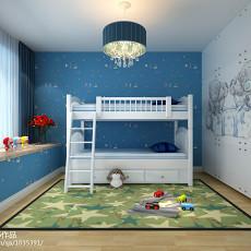 精美93平米三居儿童房中式欣赏图