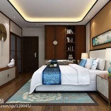 大小134平中式四居卧室装饰图片大全
