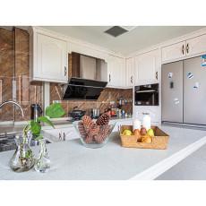 热门面积109平美式三居厨房装修实景图片大全