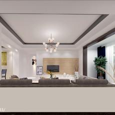 97平米三居客厅简约装饰图