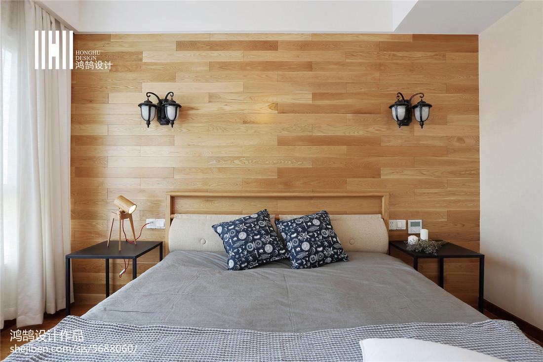 精美92平米三居卧室北欧装修设计效果图