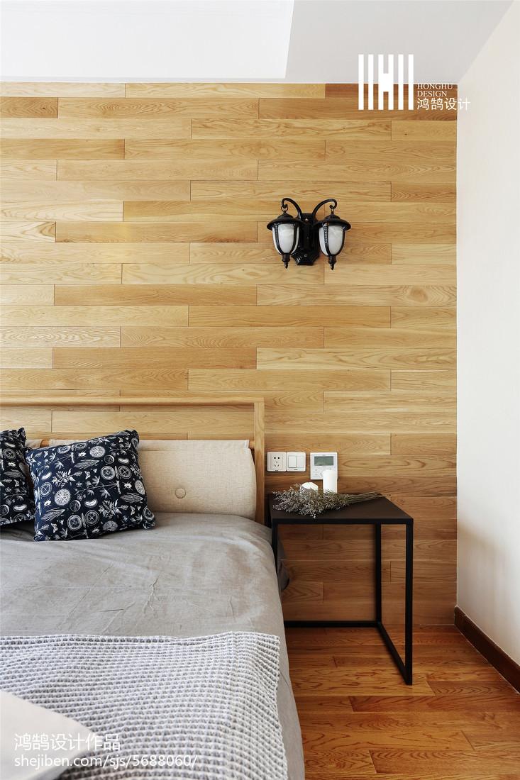 精美面積98平北歐三居臥室裝修設計效果圖片欣賞