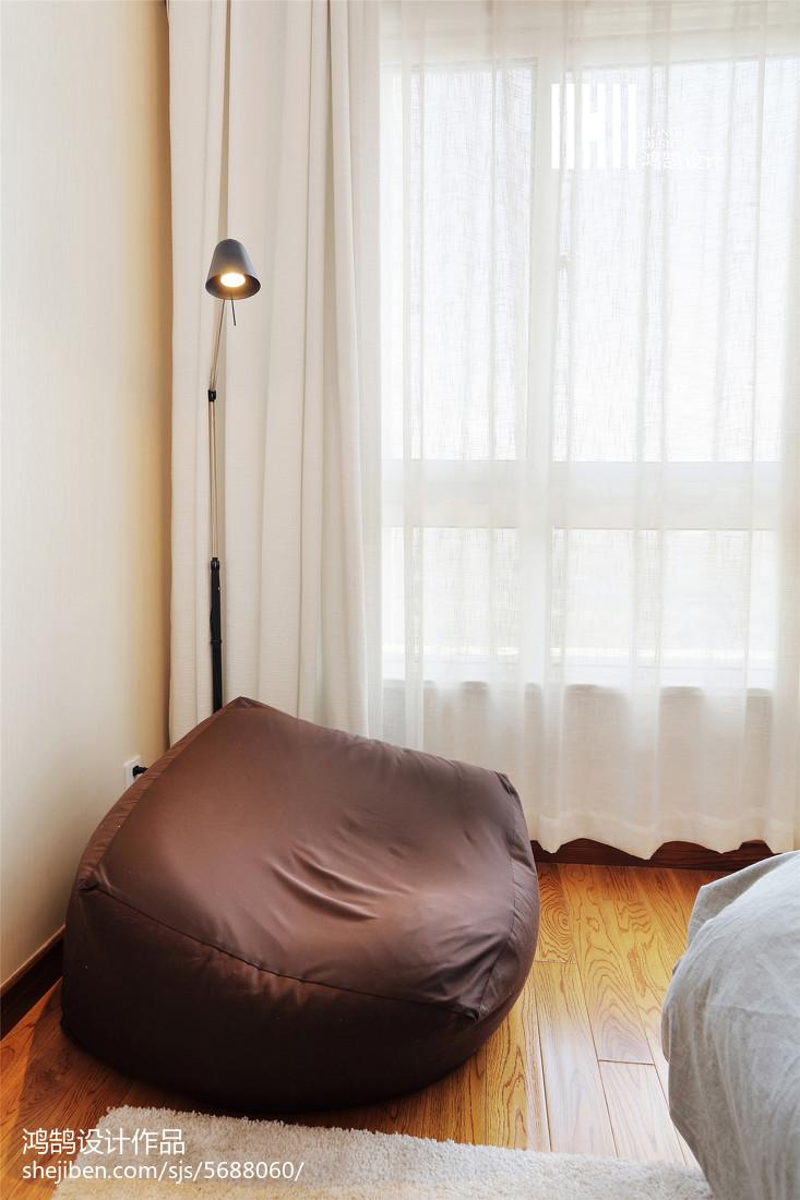 2018104平米三居卧室北欧装饰图片欣赏