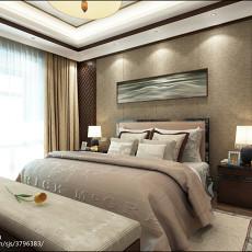 2018精选92平米三居卧室中式装修设计效果图片欣赏