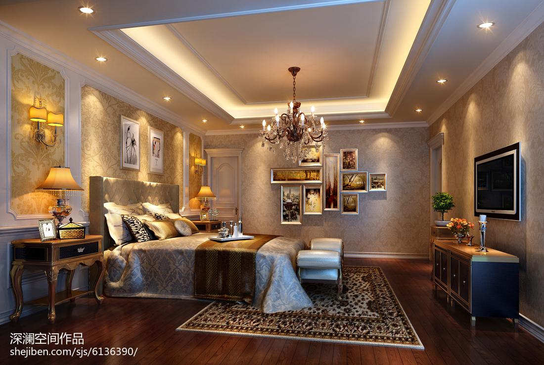 简欧现代卧室室内设计装修效果图