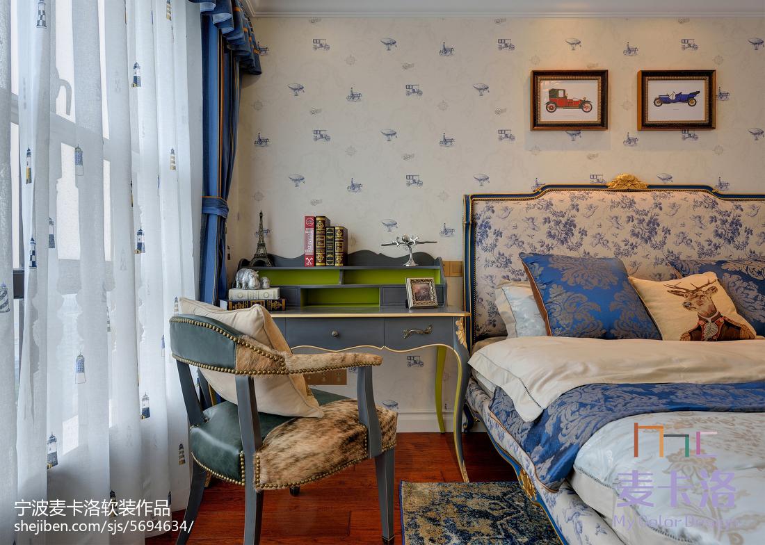 轻奢41平欧式复式卧室设计效果图