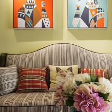 精选面积73平美式二居客厅装修欣赏图片